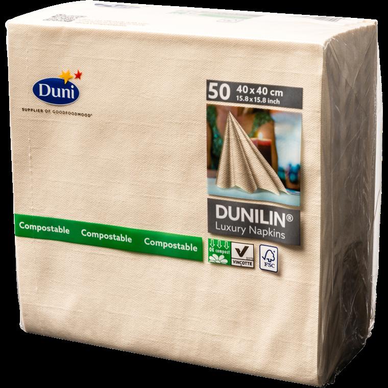 Servietter Dunilin buttermilk 40 x 40 cm - 50 stk.
