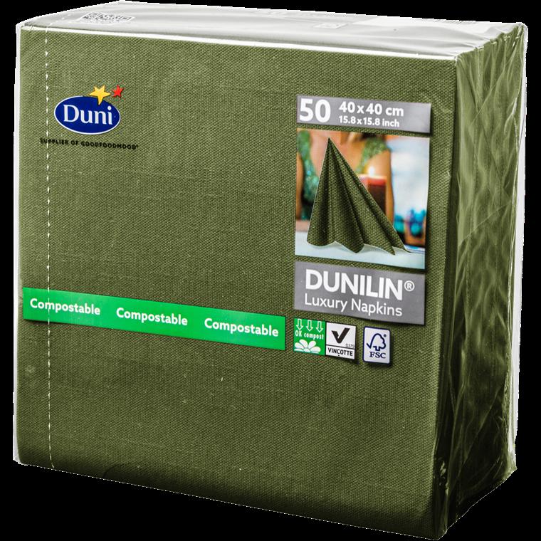 Servietter Dunilin Herbal green 40 x 40 cm - 50 stk.