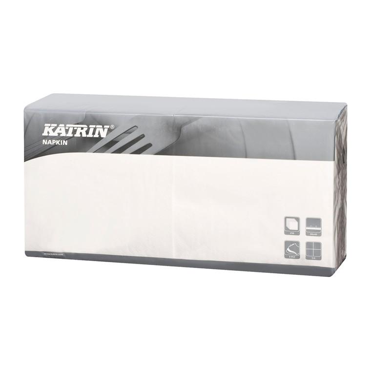 Servietter Fasana 1/4 Fold 3-la hvid 40cm 4x250stk 115048