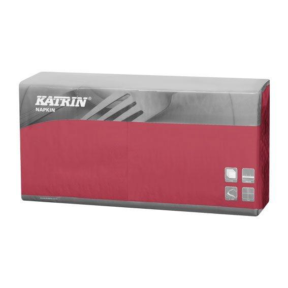 Servietter Katrin 1/4 Fold - 3-lags Bordeaux - 40 cm - 4 x 250 stk
