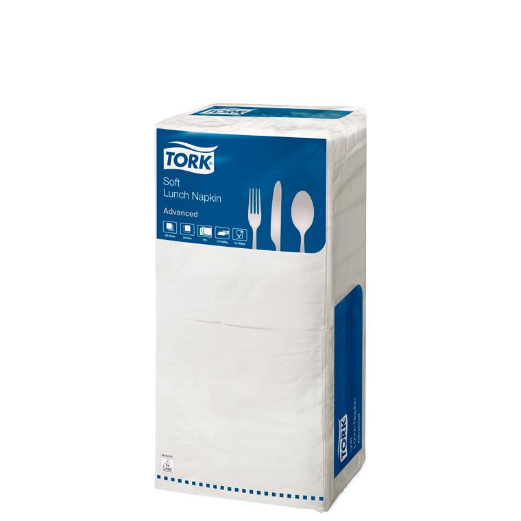 Servietter Tork 3-lags - hvid 33 cm - 10 x 150 stk. i kassen