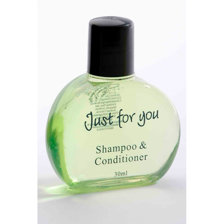 "Hotelsæbe Shampoo & Conditioner 30 ml flaske ""Just For You"" - 100 stk"