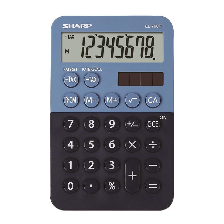 Lommeregner Sharp EL-760R, mørkeblå-lyseblå - bordregner