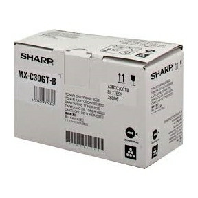 Sharp MXC30GTB black toner 6K