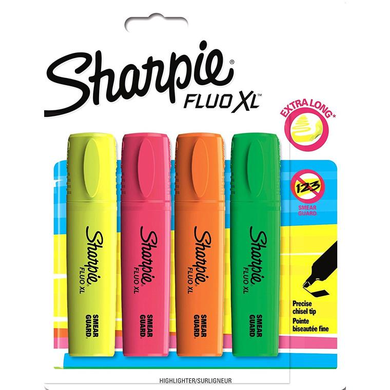 Sharpie Fluo XL - Sæt med 4 farver