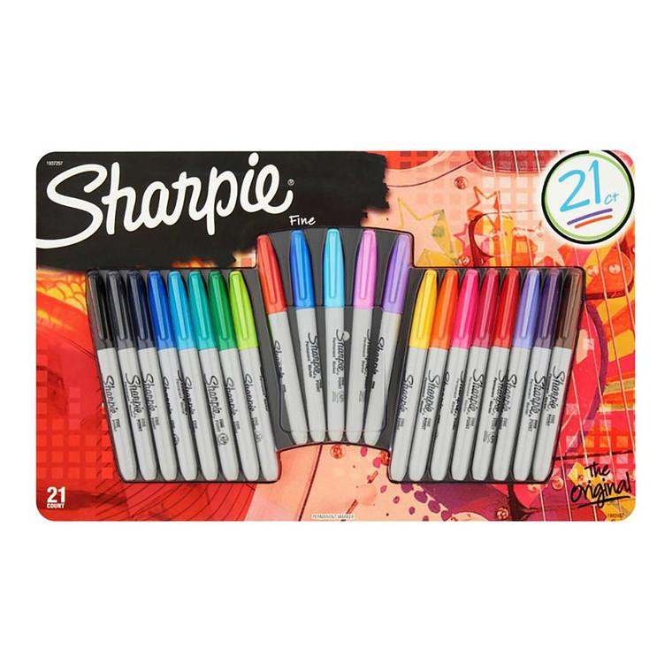 Sharpie Marker Fine 1,0 mm - Sæt med 21 farver