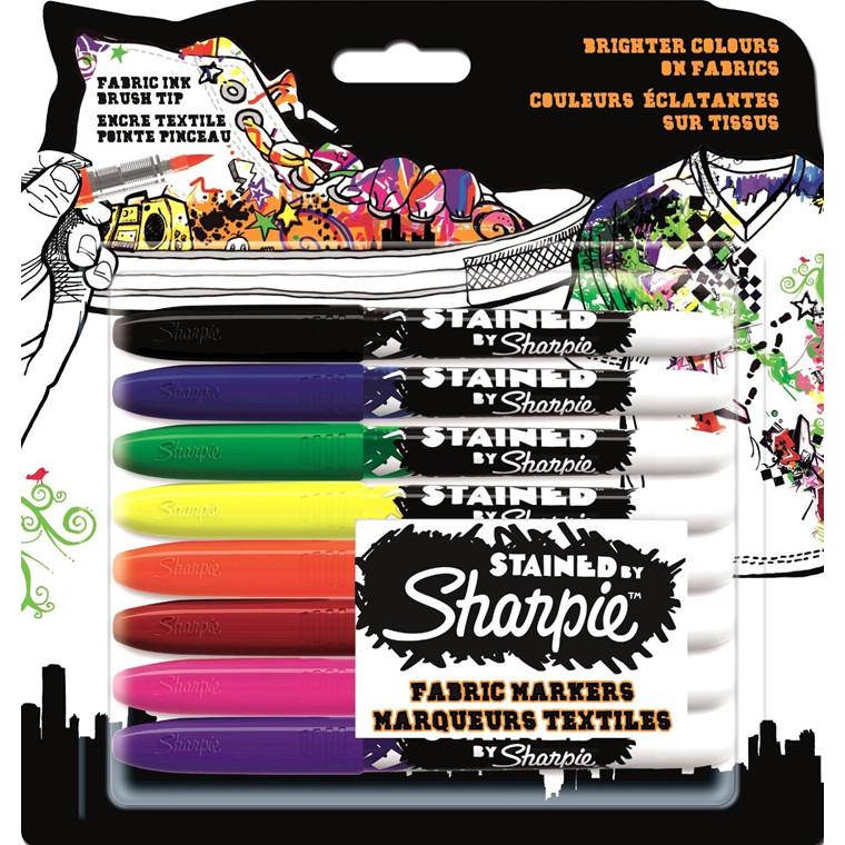 Sharpie Stained Permanet Marker - Tekstilmarker Sæt med 8 farver