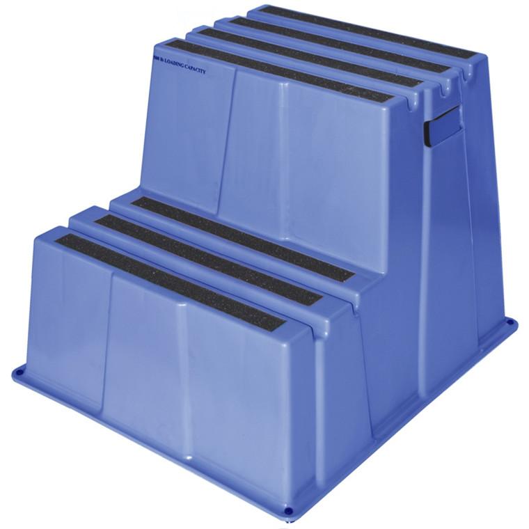 Sikkerheds trin m/2 trin blå