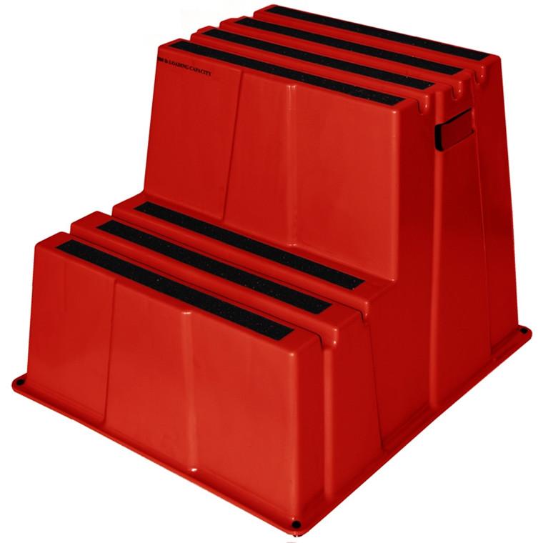 Sikkerheds trin m/2 trin rød