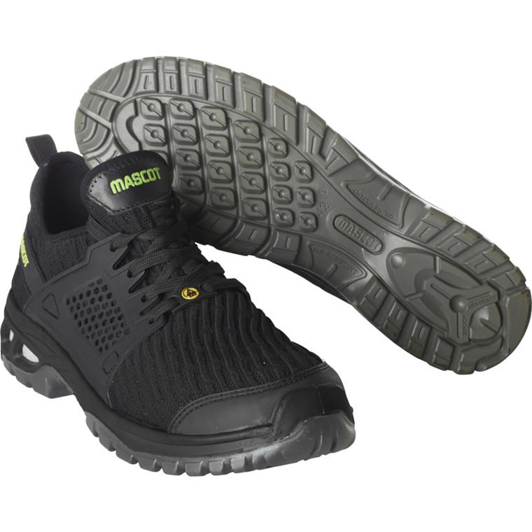 Sikkerhedssko, Mascot Footwear Energy, 46, sort, Tekstil, S1P, SRC, ESD, med snørebånd, stigegreb, metalfri, herre