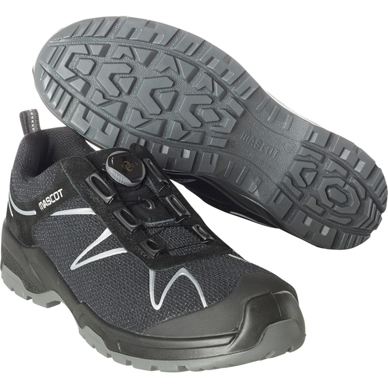 Sikkerhedssko, Mascot Footwear Flex, 45, sort, dyneema, S3, SRC, ESD, med boa-lukning, stigegreb, metalfri, herre