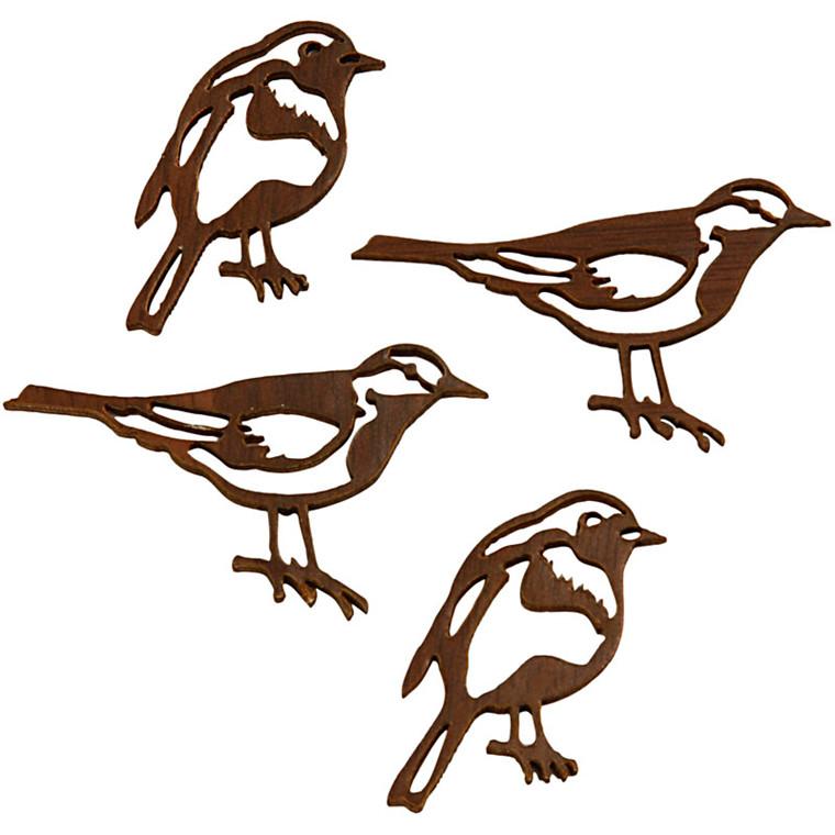 Silhuet fugle, str. 50x25 + 40x20  mm, tykkelse 1 mm, 10ass.