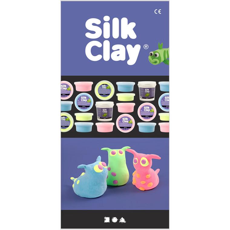 Silk Clay® Brochure, A4 z-fold , Italiensk, 25stk.