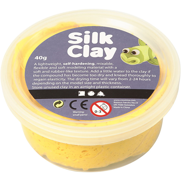 Silk Clay® gul - 40 gram