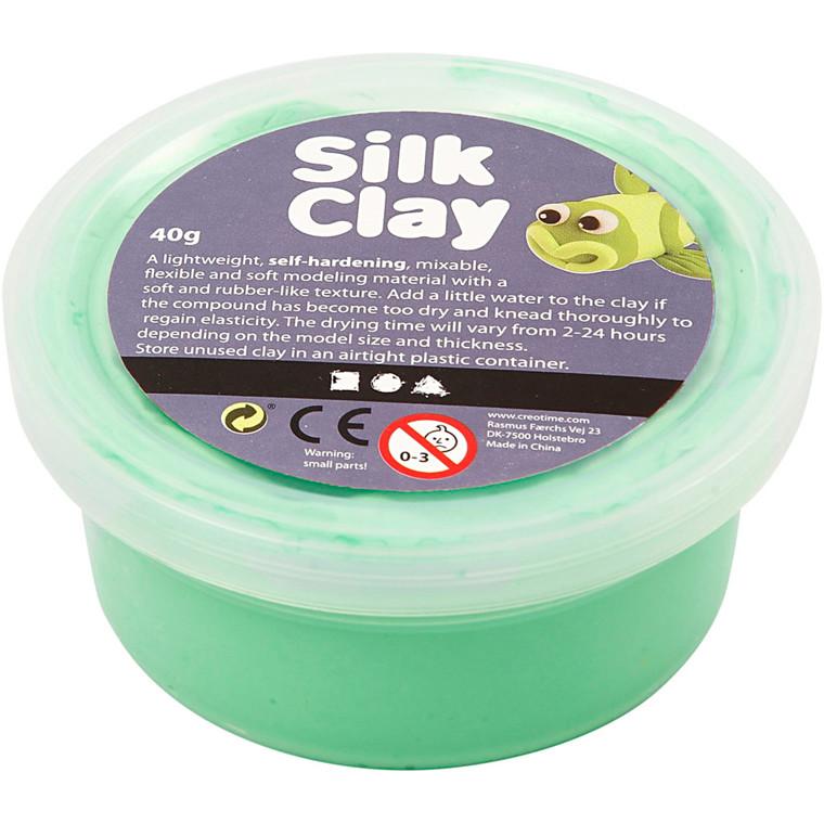 Silk Clay® lys grøn - 40 gram