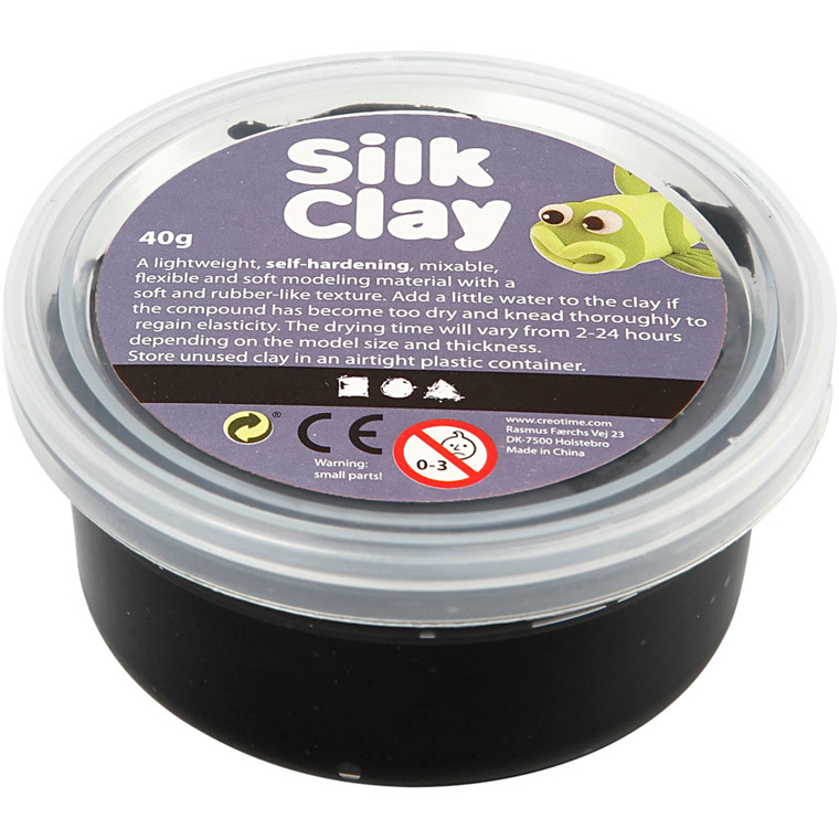Silk Clay® sort - 40 gram