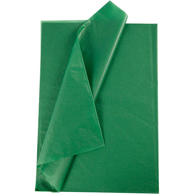 Silkepapir, ark 50x70 cm, 14 g, grøn, 10ark