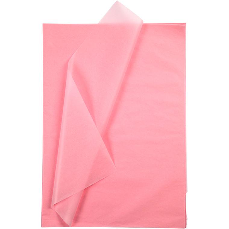 Silkepapir, ark 50x70 cm, 14 g, pink, 10ark
