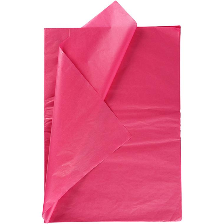 Silkepapir, ark 50x70 cm, 14 g, pink, , 25ark