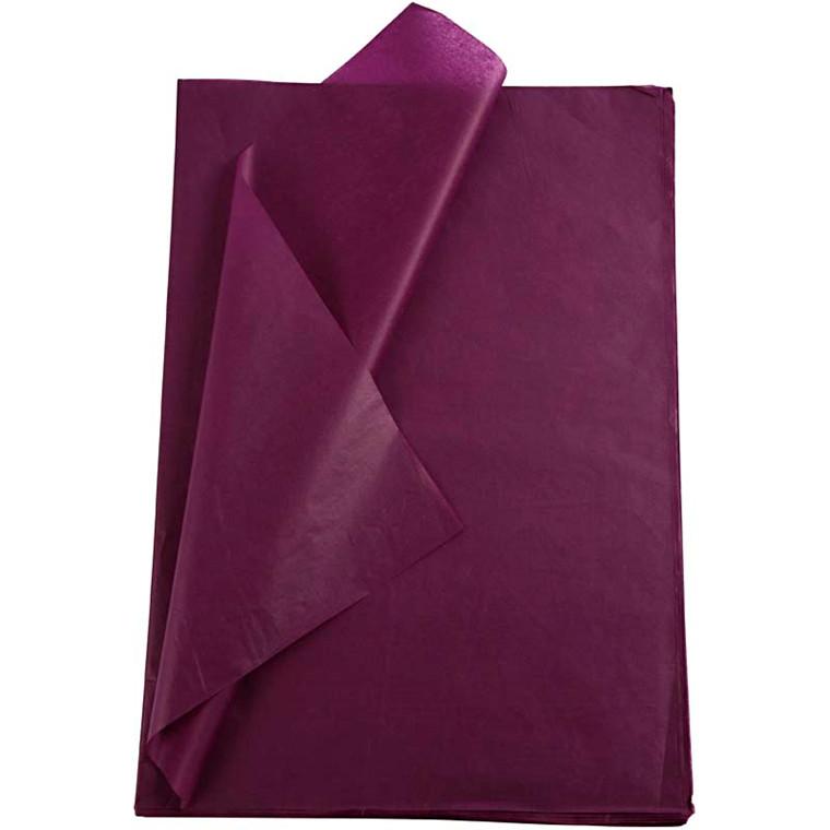 Silkepapir violet 50 x 70 cm - 25 ark
