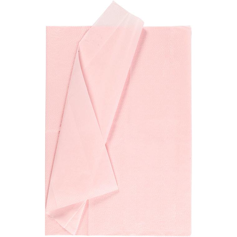 Silkepapir, ark 50x70 cm, 17 g, lys rød, 6ark