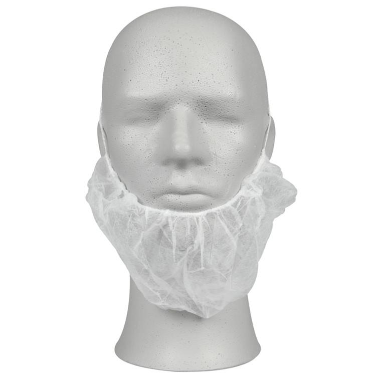 Skægbind, Abena, hvid, engangs, med elastik, nonwoven, one size,