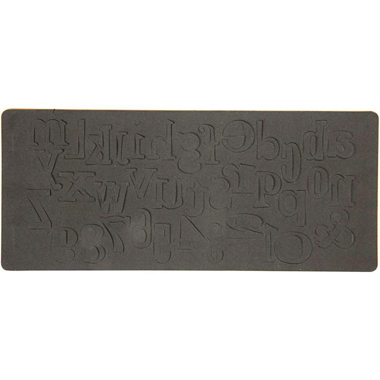 Skæreskabelon 2,5 x 5 cm | word play
