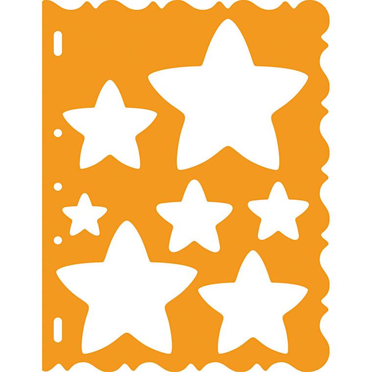 Skæreskabelon, ark 21x28 cm, stjerner, 1stk.