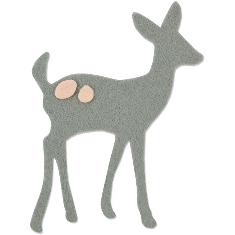Skæreskabelon rådyr - størrelse 0,64 x 0,64 og 9,53 x 13,02 cm