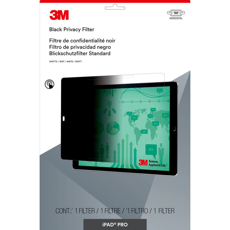 Skærmfilter 3M iPad Pro horisontalt