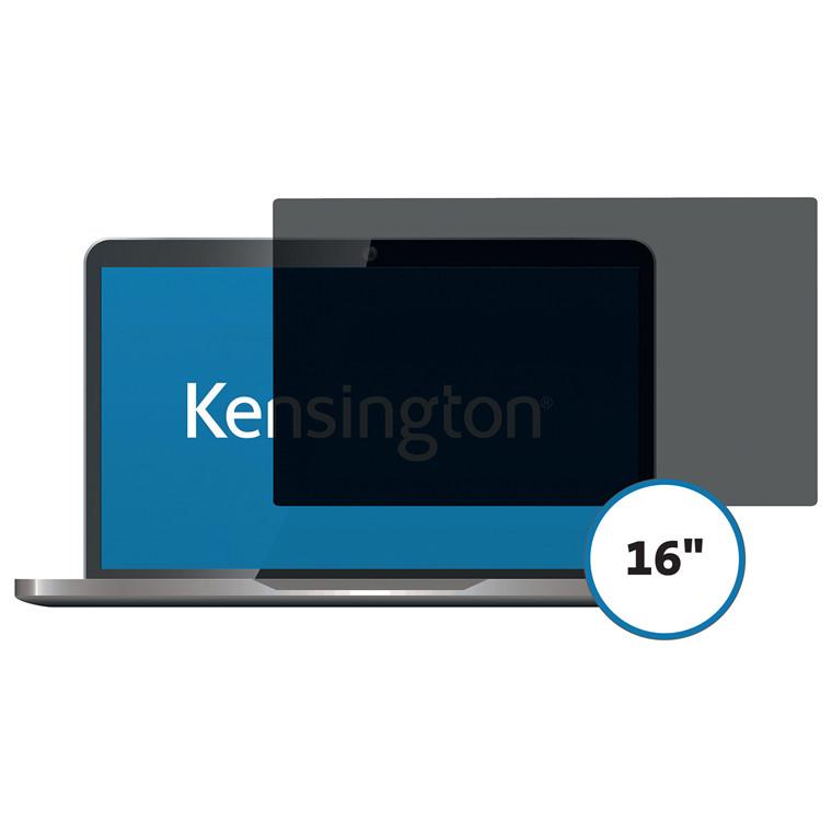 """Skærmfilter Kensington 16.0"""" wide 16:9 2-vejs aftagelig"""