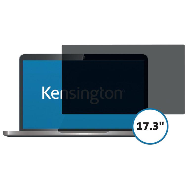 """Skærmfilter Kensington 17.3"""" wide 16:9 2-vejs aftagelig"""