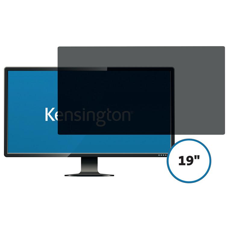 """Skærmfilter Kensington 19.0"""" wide 16:9 2-vejs aftagelig"""
