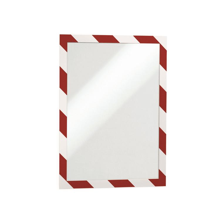 Skilt DURAFRAME® Security A4 m/rød/hvid ramme 2stk/pak