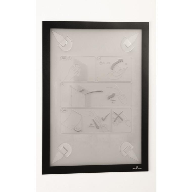 Skilt Duraframe Wallpaper A4 sort aftagelig inforamme 1stk