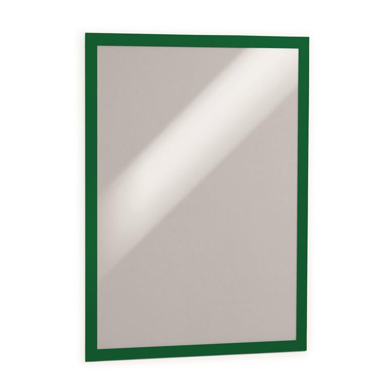 Skilt - selvklæbende A3 DURAFRAME® med grøn ramme - 2 stk.