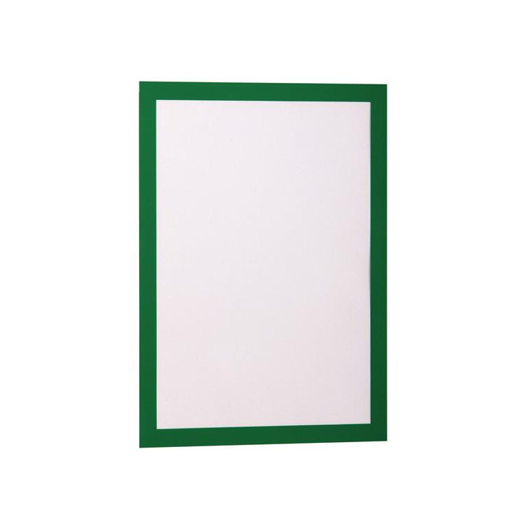 Skilt - selvklæbende A4 DURAFRAME® med grøn ramme 2 stk.