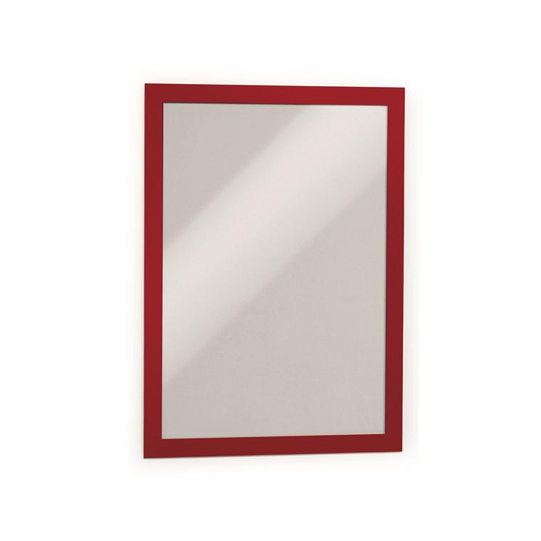 Skilt - selvklæbende A4 DURAFRAME® med rød ramme 2 stk.