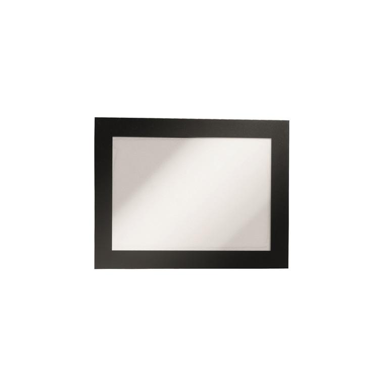 Skilt - selvklæbende A6 DURAFRAME® med sort ramme 2 stk.