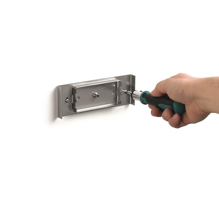 Skilt t/væg DURAVIEW A4 sølv