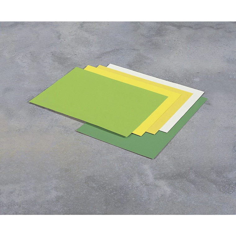 Skiltekarton - neon grøn 260 gram 50 x 70 cm - 10 ark