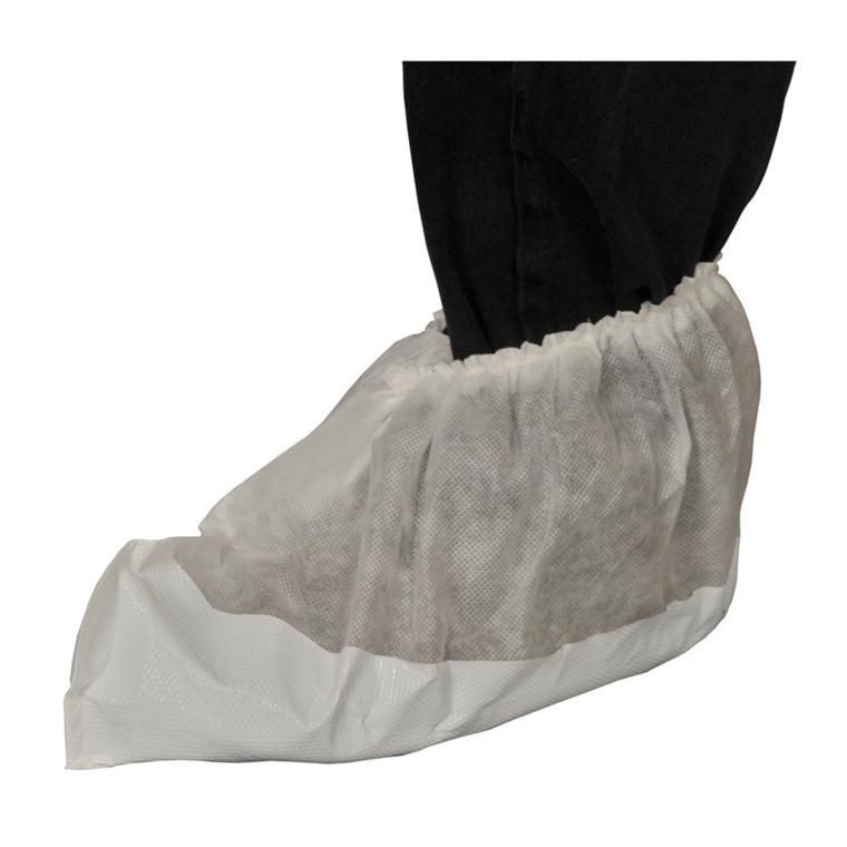 Skoovertræk hvid nonwoven med plastbund ekstra kraftige - Str. 42-45