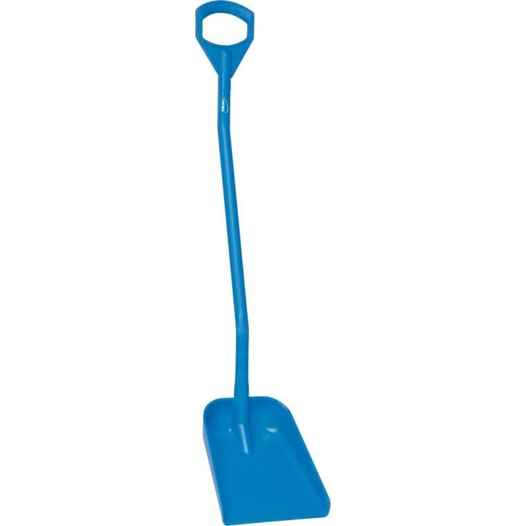 Skovl, Vikan Hygiejne, blå, langt skaft, lille blad,