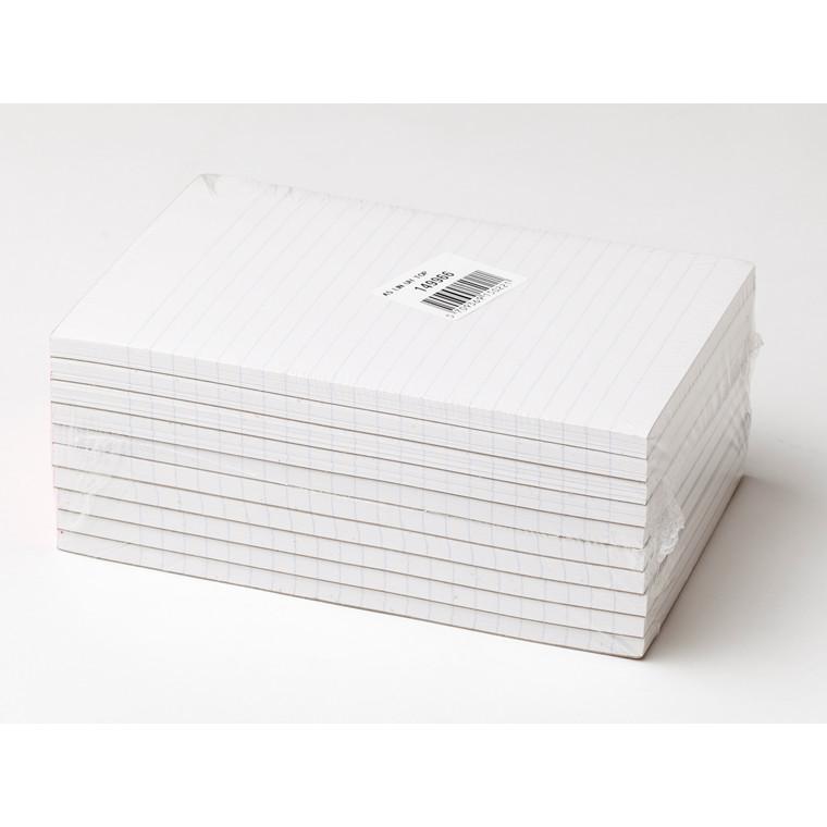 Skrive blok - A5 linjeret toplimet - 100 ark