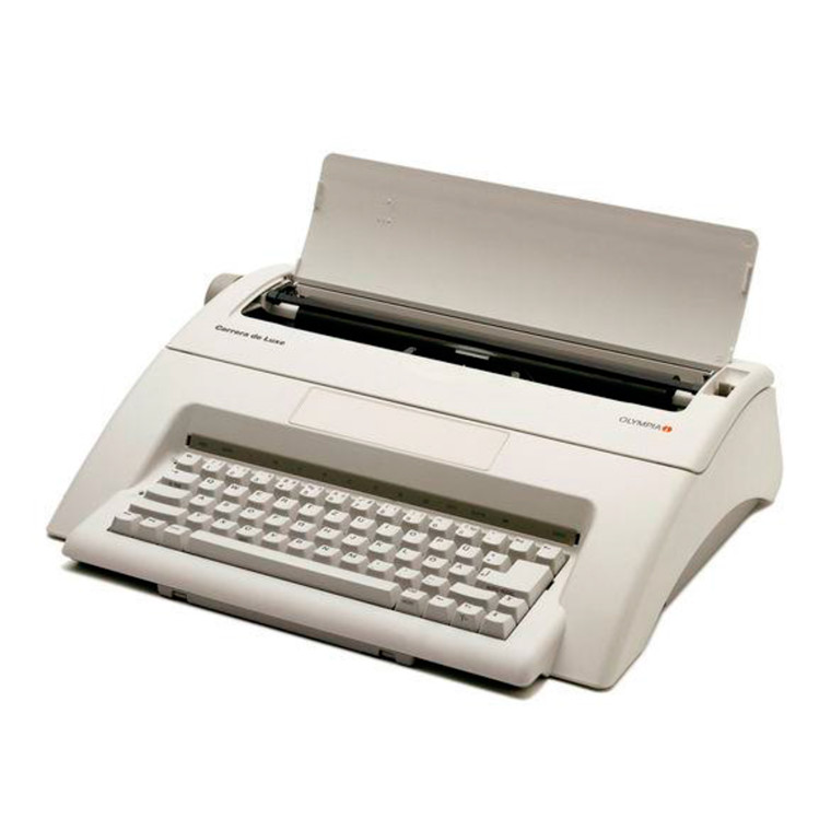 Skrivemaskine Olympia Carrera de luxe rejseskrivemaskine