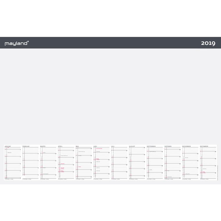 Skriveunderlag Mayland 2019 60 x 40 cm - 19 1370 00