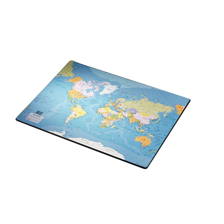 Skriveunderlag med verdenskort - Esselte 40 x 53 cm