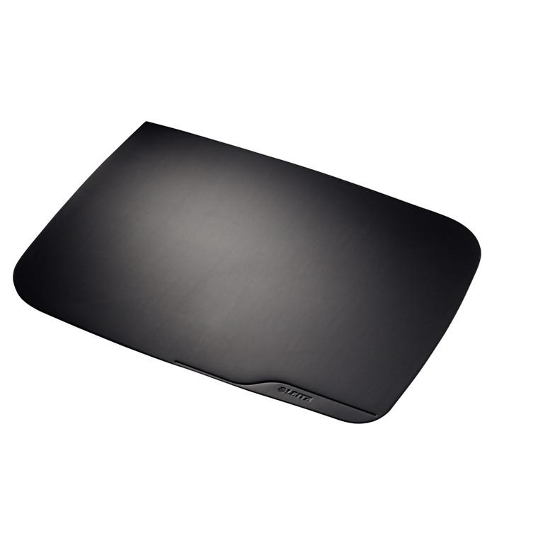 Esselte skriveunderlag  sort soft - touch og anti slip 65 x 50 cm