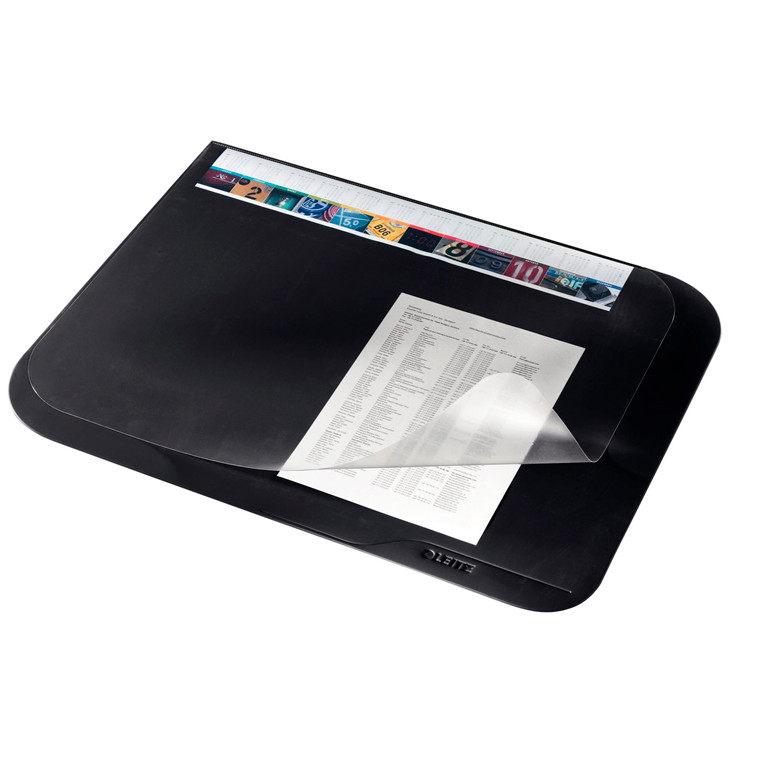 Skriveunderlag Leitz sort Soft touch/anti slip 65x50 cm