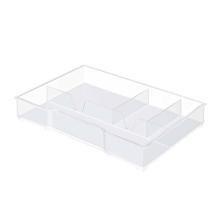 Skuffeindsats til Leitz Plus og Leitz Cube skuffekabinetter - Transparent